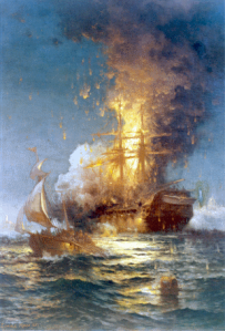 Burning ship